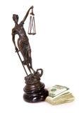 Verlegung von Gerechtigkeit Stockfotografie