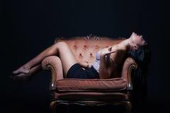 Troon van genoegen Royalty-vrije Stock Foto