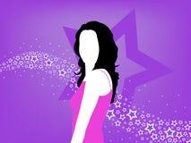 Verleidelijke Vrouwelijke Beroemdheid Stock Foto's