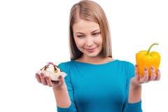 Verleiding tijdens mijn dieet Stock Afbeelding