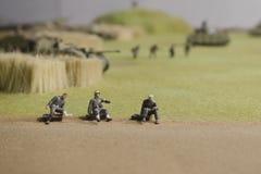 Verletzte deutsche Soldaten während der Operation Prokhorovka Stockfotos