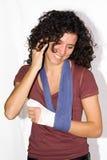 Verletzte Hand lizenzfreie stockfotografie