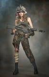 Verletzter Frauenkrieger Lizenzfreie Stockbilder