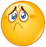 Verletzter und trauriger Emoticon Stockbilder