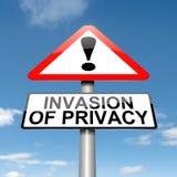 Verletzung der Privatspäre WARNING. Stockbild