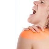 Verletzung der Schulter Stockfotografie