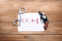 Verletzung des Gesetzes und des Recht und Ordnung Lizenzfreies Stockbild