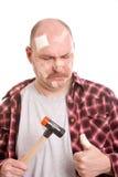 Verletzung seines Daumens Lizenzfreies Stockfoto