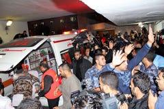 Verletzungen in Gaza stockbilder