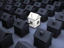 Verlicht model van een huis Stock Foto