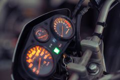 Verlicht motorcontrolebord royalty-vrije stock afbeelding