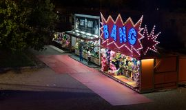 Verlicht speelplaats bij nacht in Siena royalty-vrije stock afbeeldingen