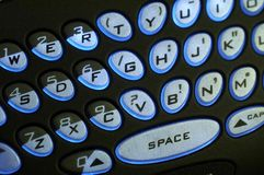 Verlicht Toetsenbord PDA Stock Afbeeldingen
