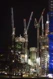 Verlichte bouwwerf, Londen royalty-vrije stock afbeeldingen
