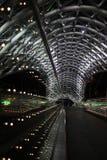 Verlichte brug in Tbilisi Stock Afbeelding