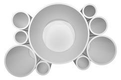 Verlichte cirkel witte plank voor presentaties Royalty-vrije Stock Foto