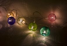 Verlichte decoratielichten en schaduwen Stock Afbeeldingen