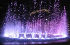 Verlichte fontein stock foto's