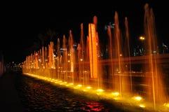 Verlichte fonteinen royalty-vrije stock foto's