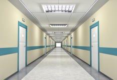 Verlichte gang in het ziekenhuis Royalty-vrije Stock Afbeelding