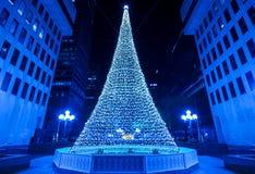 Verlichte Kerstboom Royalty-vrije Stock Afbeeldingen