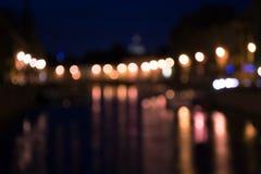Verlichte Lichten Als achtergrond Stock Foto's