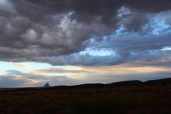 Verlichte magische wolken Stock Afbeeldingen