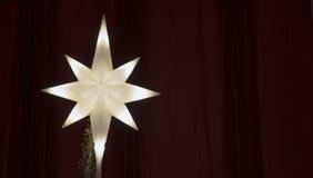 Verlichte Sterkerstboom Topper Royalty-vrije Stock Foto's