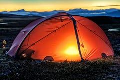 Verlichte Tent Royalty-vrije Stock Afbeeldingen