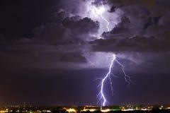 Verlichte Thunderhead Stock Afbeelding