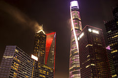 Verlichte Torens in Shanghai Stock Foto