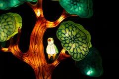 Verlichte vogel in een boom royalty-vrije stock fotografie