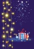 Verlichting en een gift Stock Foto's