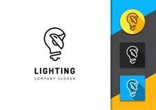 Verlichting en lampembleem, de opslag van Conceptenlampen, de grafiek van de Merkidentiteit royalty-vrije illustratie