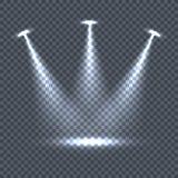 Verlichting met Lichteffecten voor Transparantie royalty-vrije illustratie