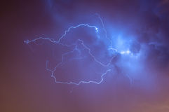 Verlichting Skyscape stock afbeeldingen