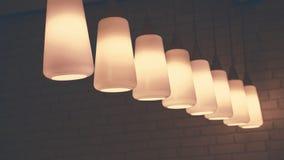 Verlichting van lampen, de Plafondinrichting royalty-vrije stock afbeelding