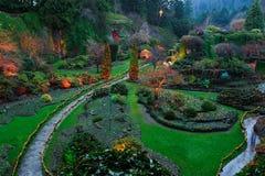 Verlichting van tuin stock afbeeldingen