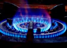 Verlichtingsgasfornuis royalty-vrije stock fotografie