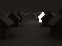 Verlichtingshuis onder andere in Dark Concept 6 van onroerende goederen Royalty-vrije Stock Fotografie
