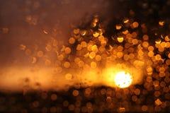 Verlichtingskristallen op het venster Stock Foto's