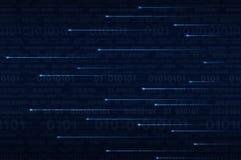Verlichtingslijn met computer binaire code Stock Foto