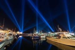Verlichtingsvertoning Hobart Royalty-vrije Stock Foto's