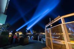 Verlichtingsvertoning Hobart Royalty-vrije Stock Foto