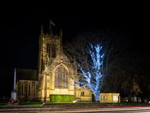 Verlichtte de Kerk van Alle Heiligen, Northallerton, het UK stock fotografie