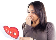 Verliebte Frau Lizenzfreies Stockfoto
