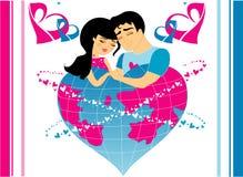 Verliebte Männer und Frauen stock abbildung