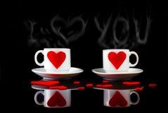 Verliebter Kaffee lizenzfreie stockbilder