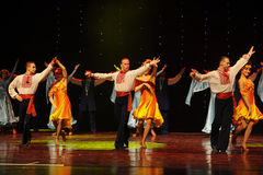 Verliefd Rusland de gevoel-de werelddans van Oostenrijk Stock Foto's