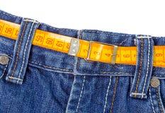 Verlieren Sie Gewicht JEANS stockfoto
